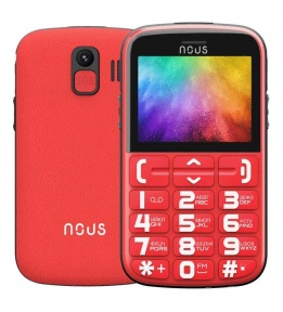 Бабушкофон NOUS Helper NS 2422 Red/Black